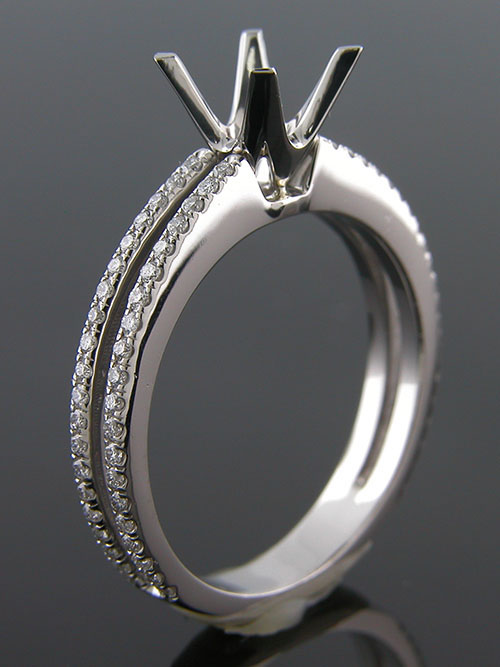 1154A-1 Custom designed platinum Micro Pave diamond mount